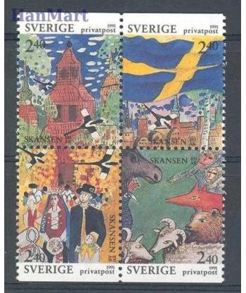 Szwecja 1991 Mi 1668-1671 Czyste **