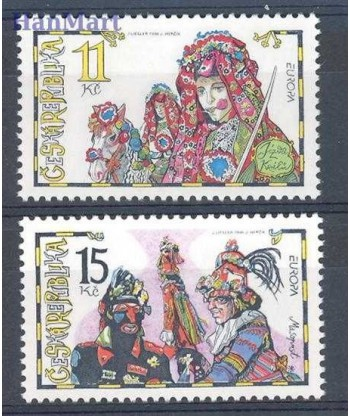 Czechy 1998 Mi 182-183 Czyste **