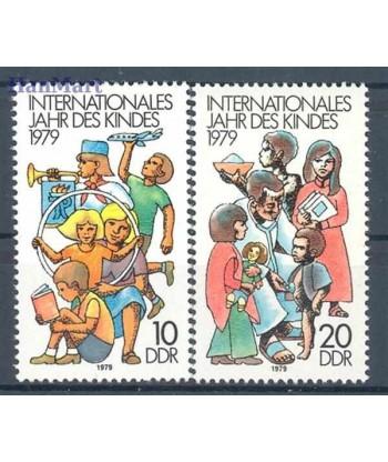 Niemiecka Republika Demokratyczna / DDR 1979 Mi 2422-2423 Czyste **