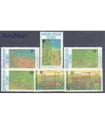 Kongo 1981 Mi 812-817 Czyste **