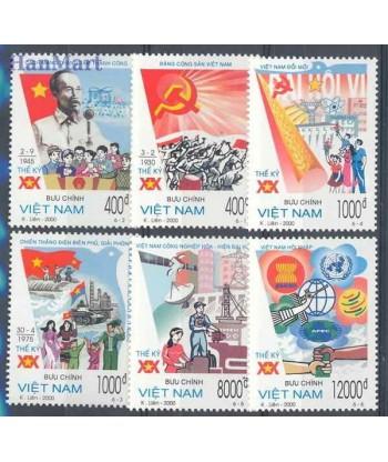 Wietnam 2000 Mi 3028-3033 Czyste **