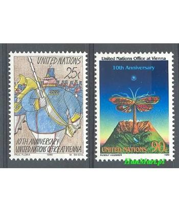 Narody Zjednoczone Nowy Jork 1989 Mi 577-578 Czyste **