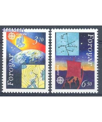 Wyspy Owcze 1991 Mi 215-216 Czyste **