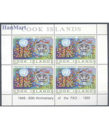 Wyspy Cooka 1998 Mi ark 1441 Czyste **