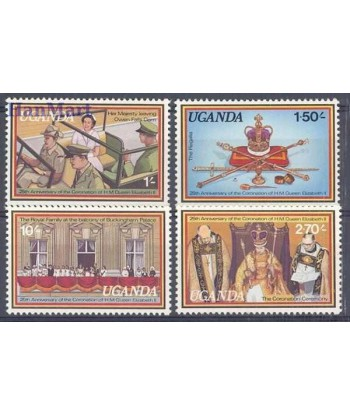 Uganda 1979 Mi 195-198 Czyste **