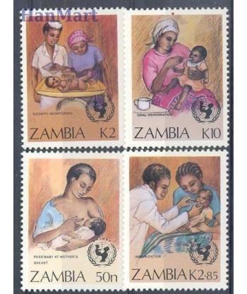 Zambia 1988 Mi 448-451 Czyste **
