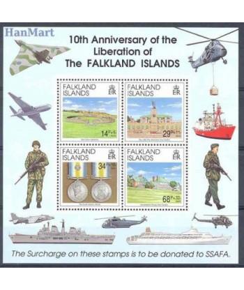 Falklandy 1992 Mi bl 9 Czyste **