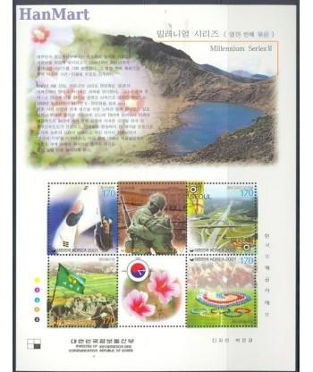 Korea Południowa 2001 Mi bl 701 Czyste **