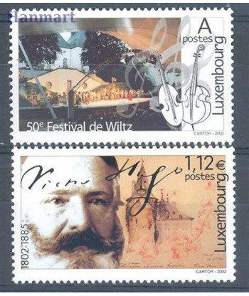 Luksemburg 2002 Mi 1577-1578 Czyste **
