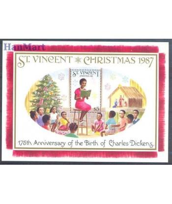 St Vincent 1987 Mi bl 54 Czyste **