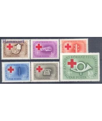 Węgry 1957 Mi 1490-1495 Czyste **