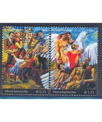 Narody Zjednoczone Wiedeń 2004 Mi 430-431 Czyste **