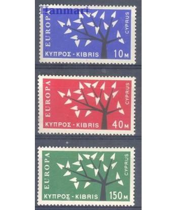 Cypr Grecki 1963 Mi 215-217 Czyste **
