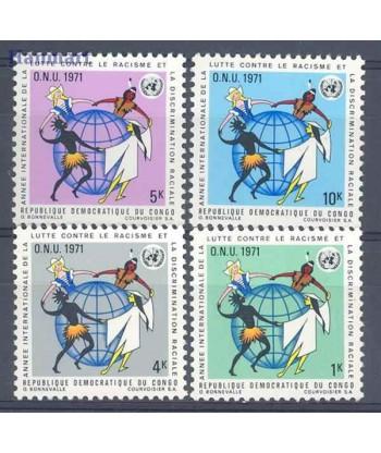 Kongo Kinszasa / Zair 1971 Mi 420-423 Czyste **