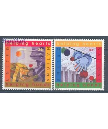Narody Zjednoczone Nowy Jork 2001 Mi 860-861 Czyste **