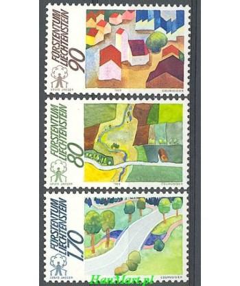 Liechtenstein 1988 Mi 939-941 Czyste **