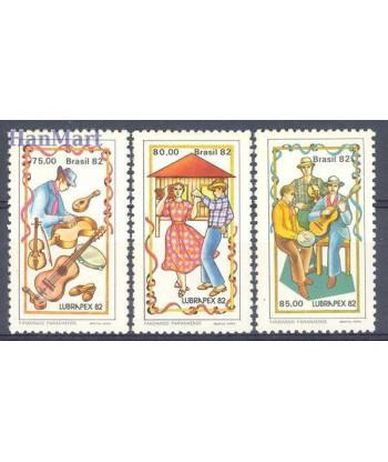 Brazylia 1982 Mi 1924-1926 Czyste **