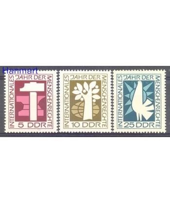 Niemiecka Republika Demokratyczna / DDR 1968 Mi 1368-1370 Czyste **