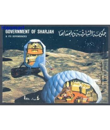 Sharjah 1970 Mi bl 67 Czyste **