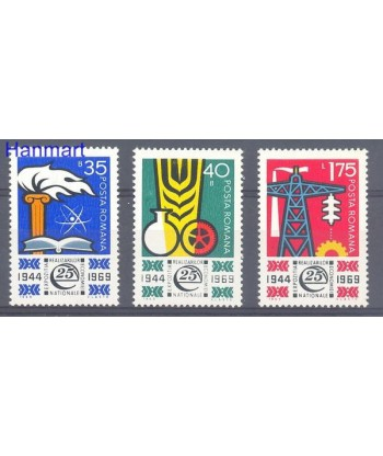 Rumunia 1969 Mi 2783-2785 Czyste **