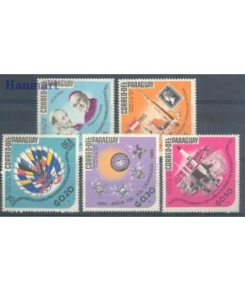 Paragwaj 1966 Mi 1519-1523 Czyste **