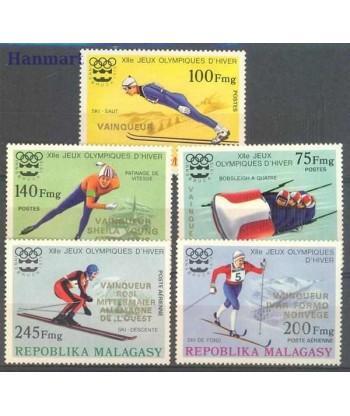 Madagaskar 1976 Mi 802-806 Czyste **
