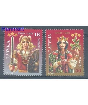 Łotwa 1995 Mi 414-415 Czyste **