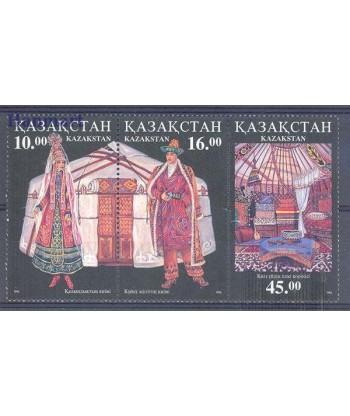 Kazachstan 1996 Mi 145-147 Czyste **