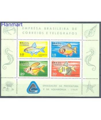 Brazylia 1969 Mi bl 24 Czyste **