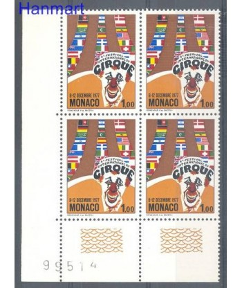 Monako 1977 Mi vie 1293 Czyste **