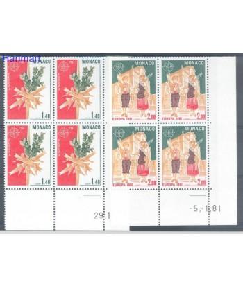 Monako 1981 Mi 1473-1474 Czyste **