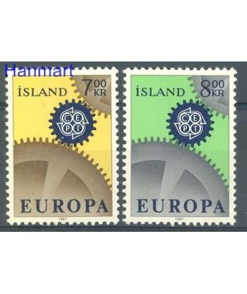 Islandia 1967 Mi 409-410 Czyste **