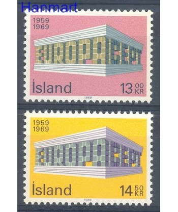 Islandia 1969 Mi 428-429 Czyste **