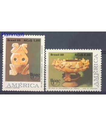 Brazylia 1989 Mi 2321-2322 Czyste **