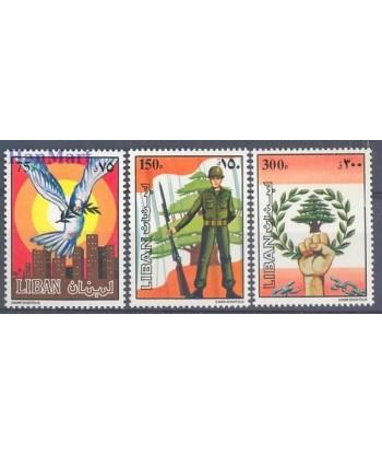 Liban 1984 Mi 1324-1326 Czyste **