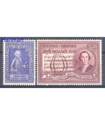 Ruanda - Urundi 1956 Mi 156-157 Czyste **