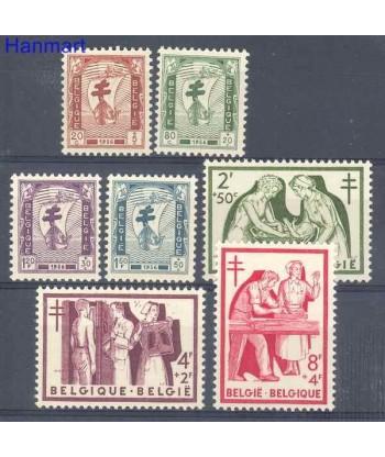 Belgia 1956 Mi 1047-1053 Czyste **