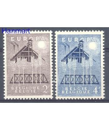 Belgia 1957 Mi 1070-1071 Czyste **