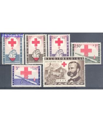 Belgia 1959 Mi 1149-1154 Czyste **