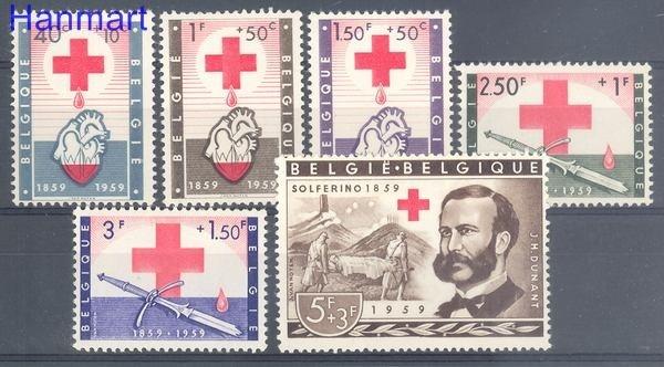 Belgium 1959 Mi 1149-1154 MNH