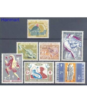 Belgia 1959 Mi 1167-1173 Czyste **