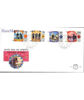 Holandia 1996 Mi 1576-1579 FDC