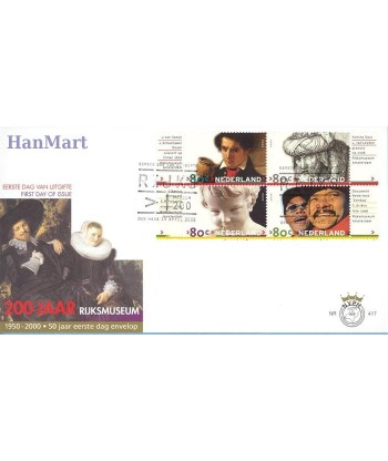 Holandia 2000 Mi 1791-1800 FDC