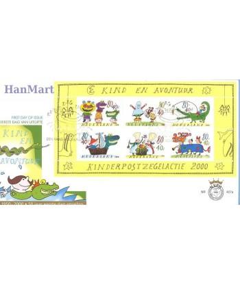 Holandia 2000 Mi bl 67 FDC