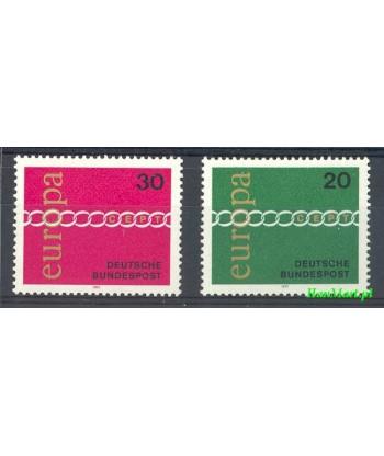 Niemcy 1971 Mi 675-676 Czyste **