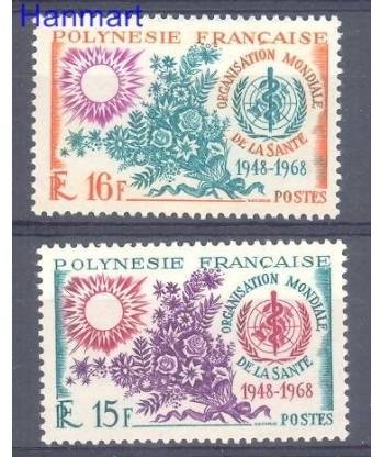Polinezja Francuska 1968 Mi 84-85 Czyste **