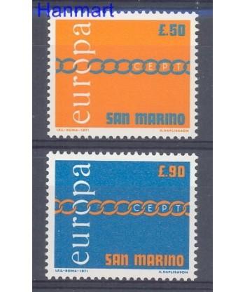 San Marino 1971 Mi 975-976 Czyste **